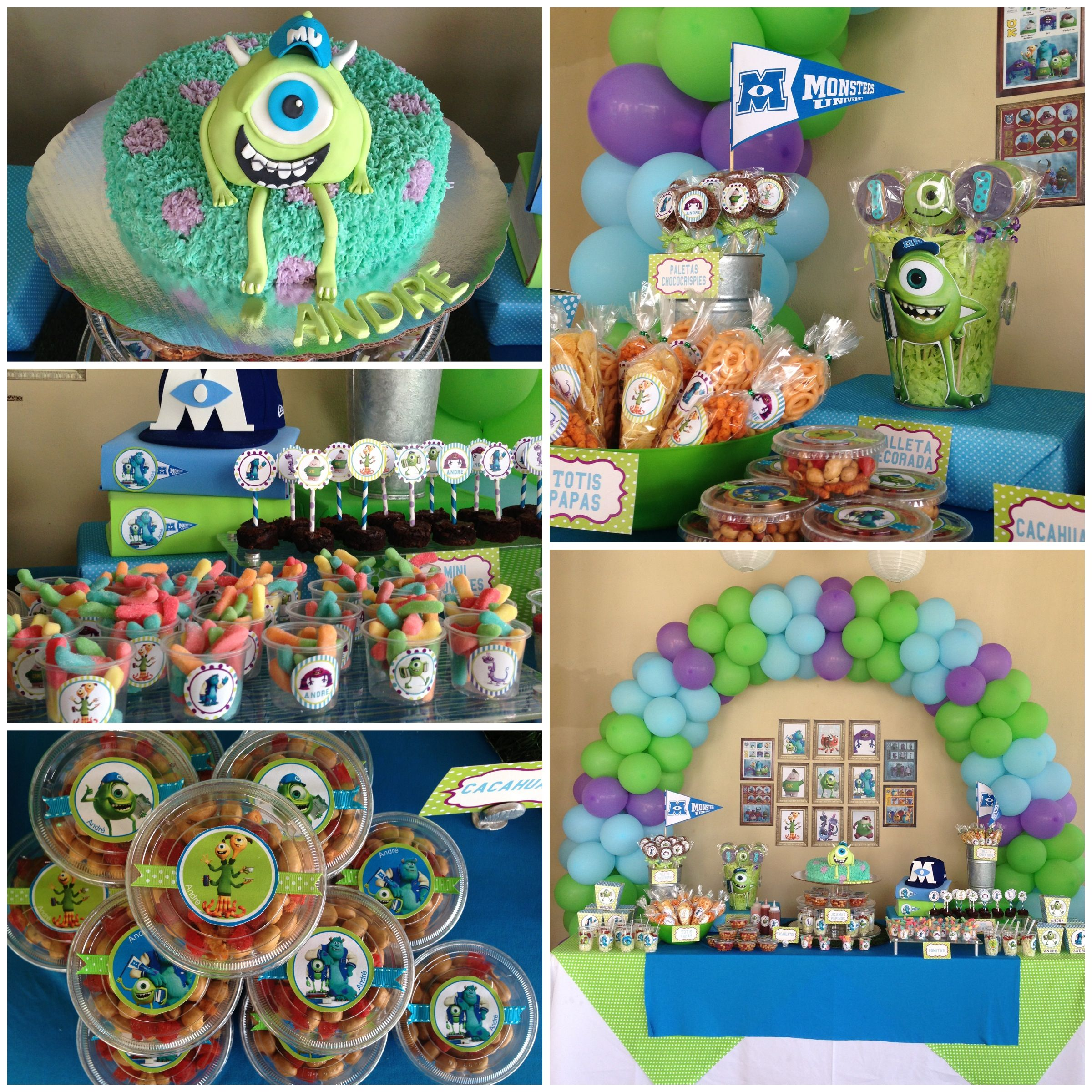MoNstErs UniVeRsiTy paRty! Sweet table, decotation and cake ...