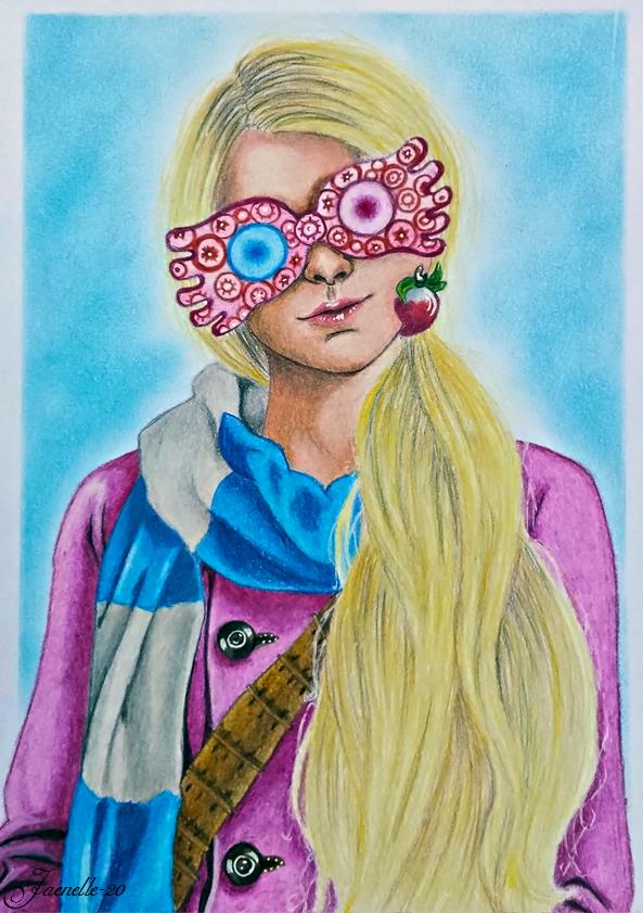 Luna Lovegood By Paula C 2017 Luna Lovegood Harry Potter Portraits Harry Potter Art Drawings
