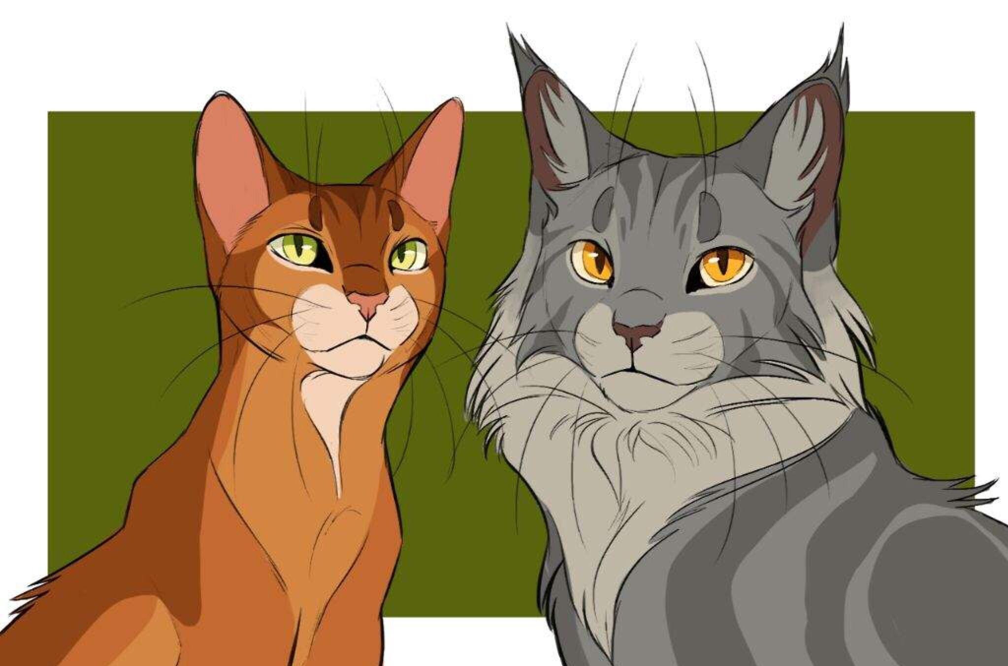 Firestar and Graystripe Warrior cats art, Warrior cats