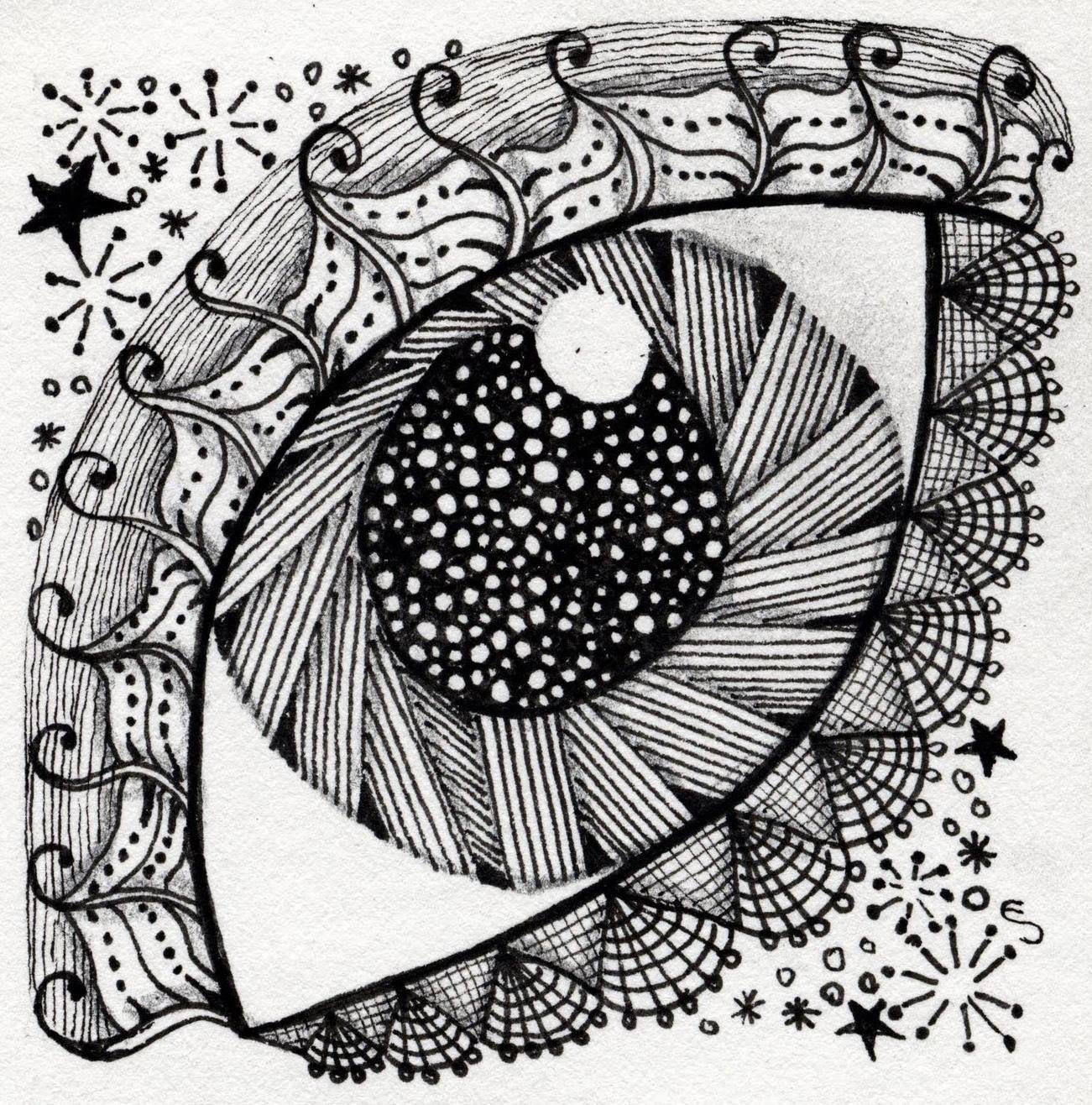 Arte On Line Punto Linea Y Plano Patron Zentangle Arte Zentangle Dibujos
