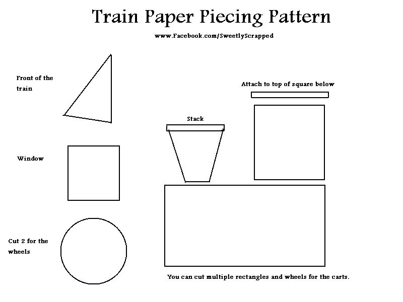 thomas the train printable template | Freebie} Friday Train Paper ... : class quilt template - Adamdwight.com