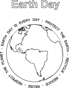 Earth Day Coloring Page Activity Sheet Earth Day Coloring Pages Earth Day Coloring Pages
