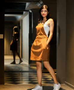 1be7e3789 dangri-brown-skirt Western Dresses, Western Outfits, Brown Skirts, Summer  Trends