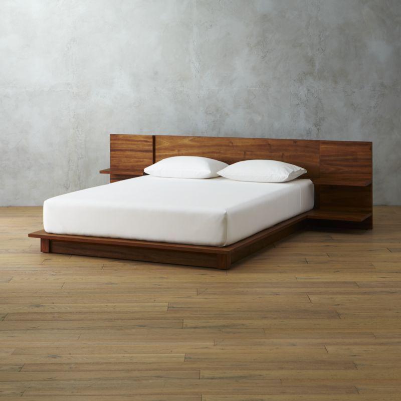 Andes Acacia Queen Bed Loftlyfe Modern Bedroom