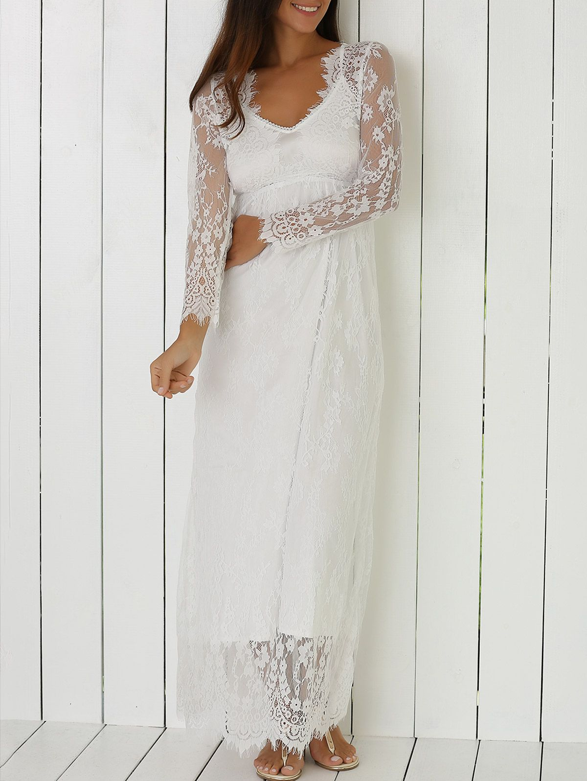 See Through Lace Plunging Neck Dress Cowgirl Dresses Lace Dress Lace Dress With Sleeves