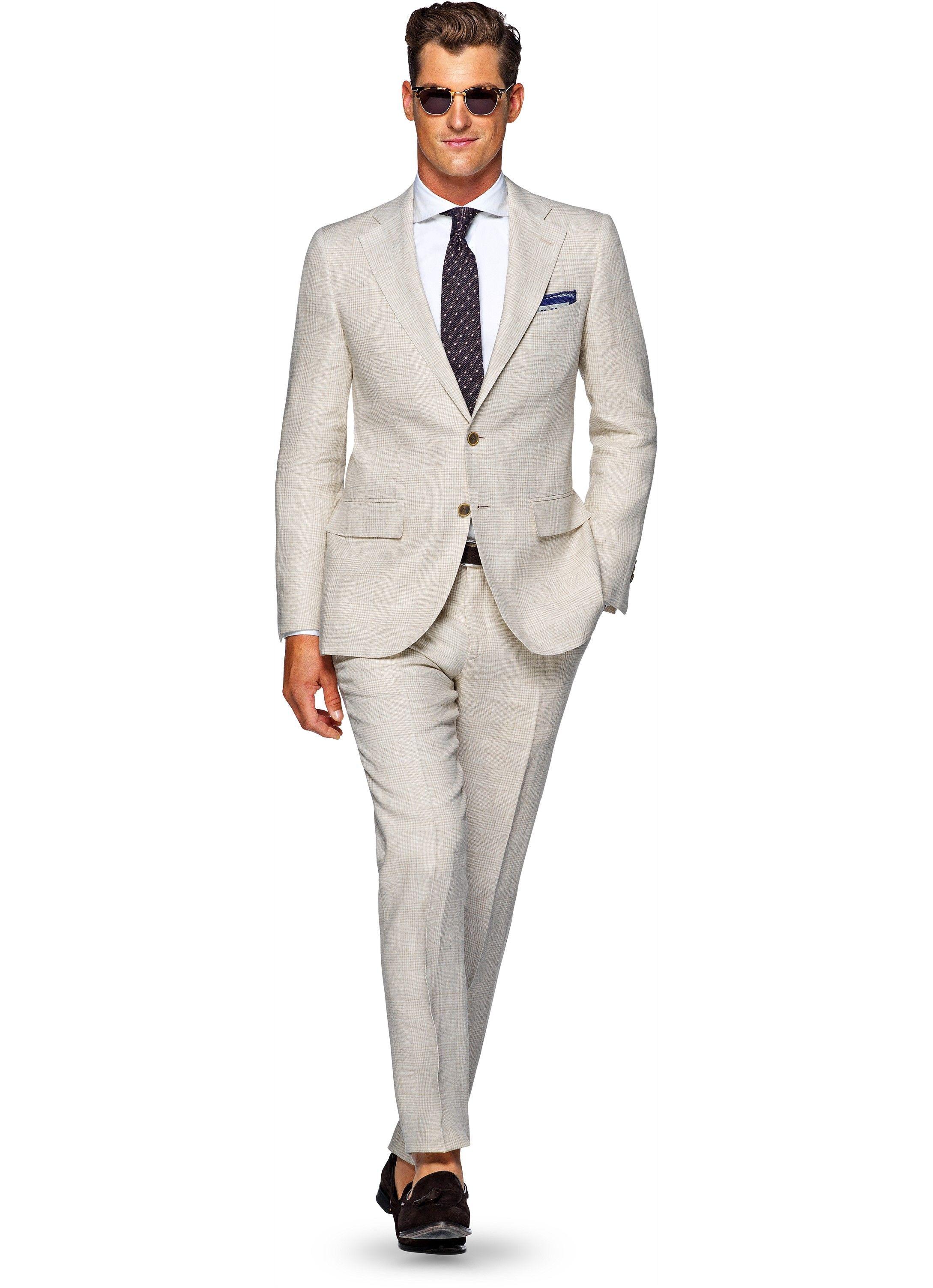 2ca3d71876 Suit Light Brown Check Lazio P4845i | Suitsupply Online Store ...