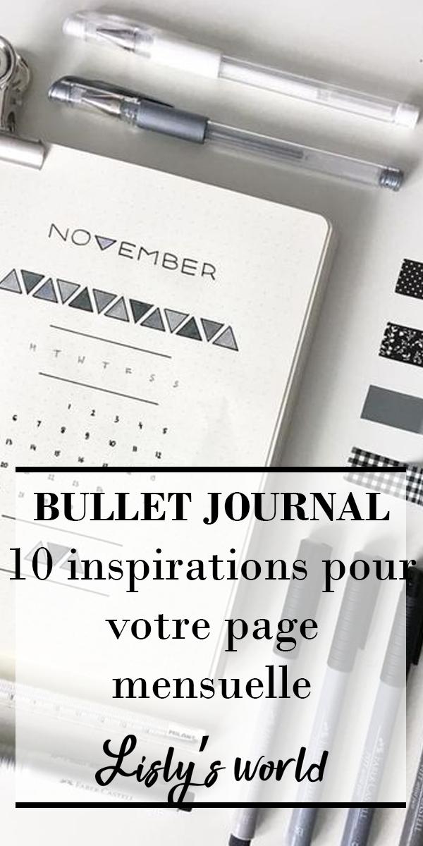 10 inspirations pour votre page mensuelle | Bullet journal ...