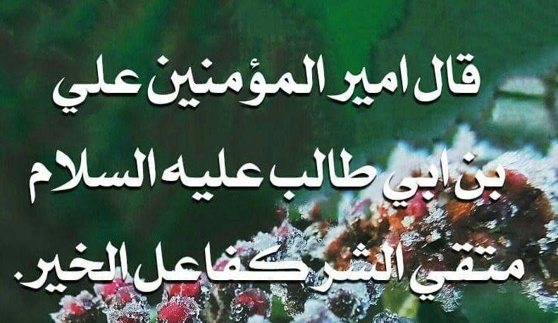 متقي الشر كفاعل الخير امير المؤمنين علي Calligraphy Arabic Calligraphy