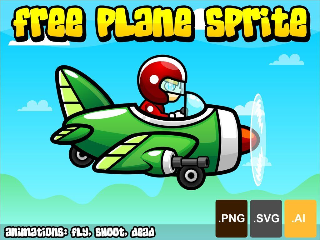 Free Plane Sprite For Your Side Scrolling Shooter Games 2d Game
