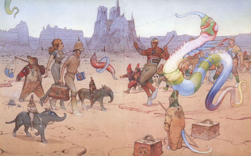 It's been a long time since the last post on Moebius. Back then I presented a selection of his black and white work…