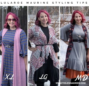c17f4a55e11 Sizing and styling tips for the new LuLaRoe Maurine dress! The LuLaRoe  Maurine is such a fun to wear dress that can work for all different body  types.