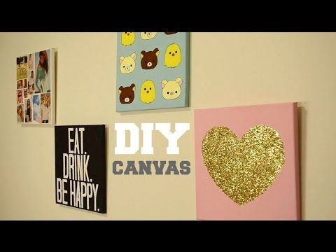 DIY Easy Canvas Art Custom Quote On Canvas Room Decor YouTube Our St