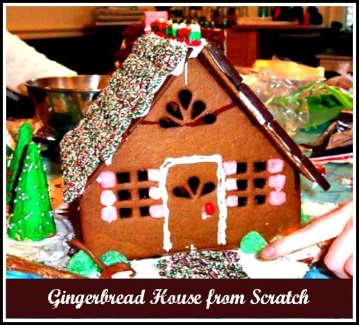 Learn how to make a Gingerbread House from scratch! #Holidays #Christmas