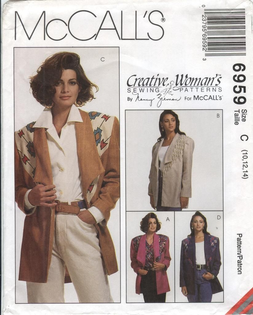 McCall's 6959 Misses' Unlined Jacket