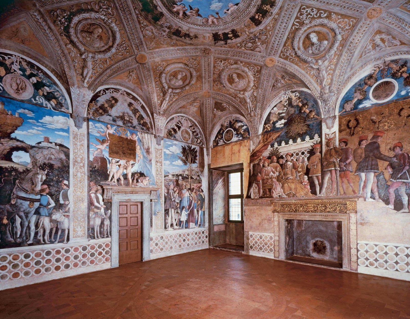 Mantegna fresques de la chambre des poux camera degli for Planimetrie della camera a castello