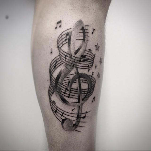 60 tatuagens de notas musicais que agradam a todos os estilos tatoo pinterest tatouage. Black Bedroom Furniture Sets. Home Design Ideas