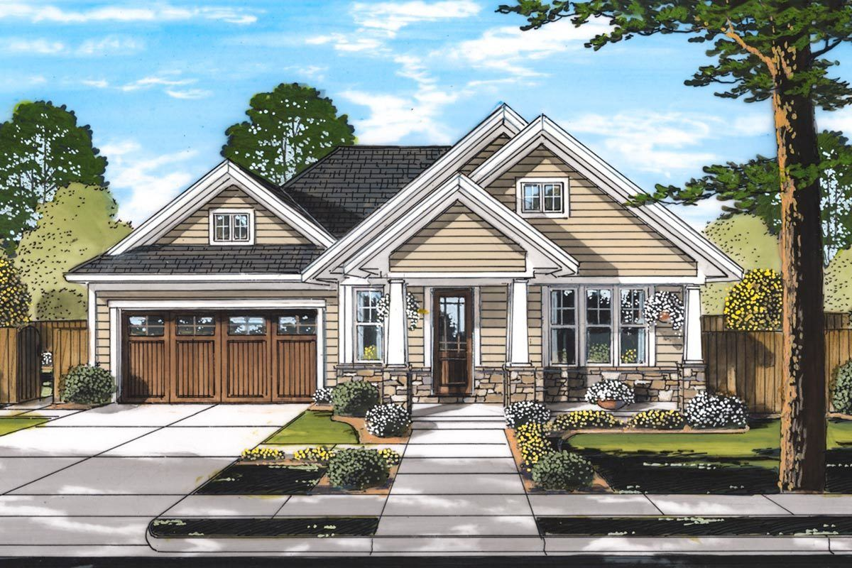 Plan 39287st 3 Bed Craftsman Home Plan With Cottage Front Porch Craftsman House Plans Craftsman Style House Plans Country Style House Plans