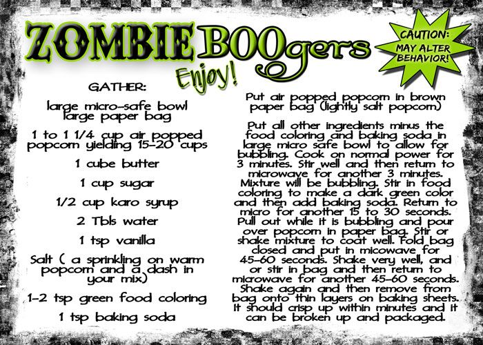 serving up some zombie boogers