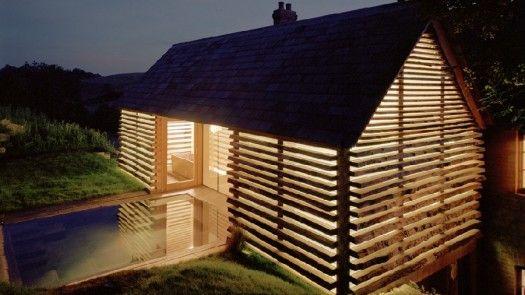 Dairy House   NZ Wood   Lighting design, Small solar ...