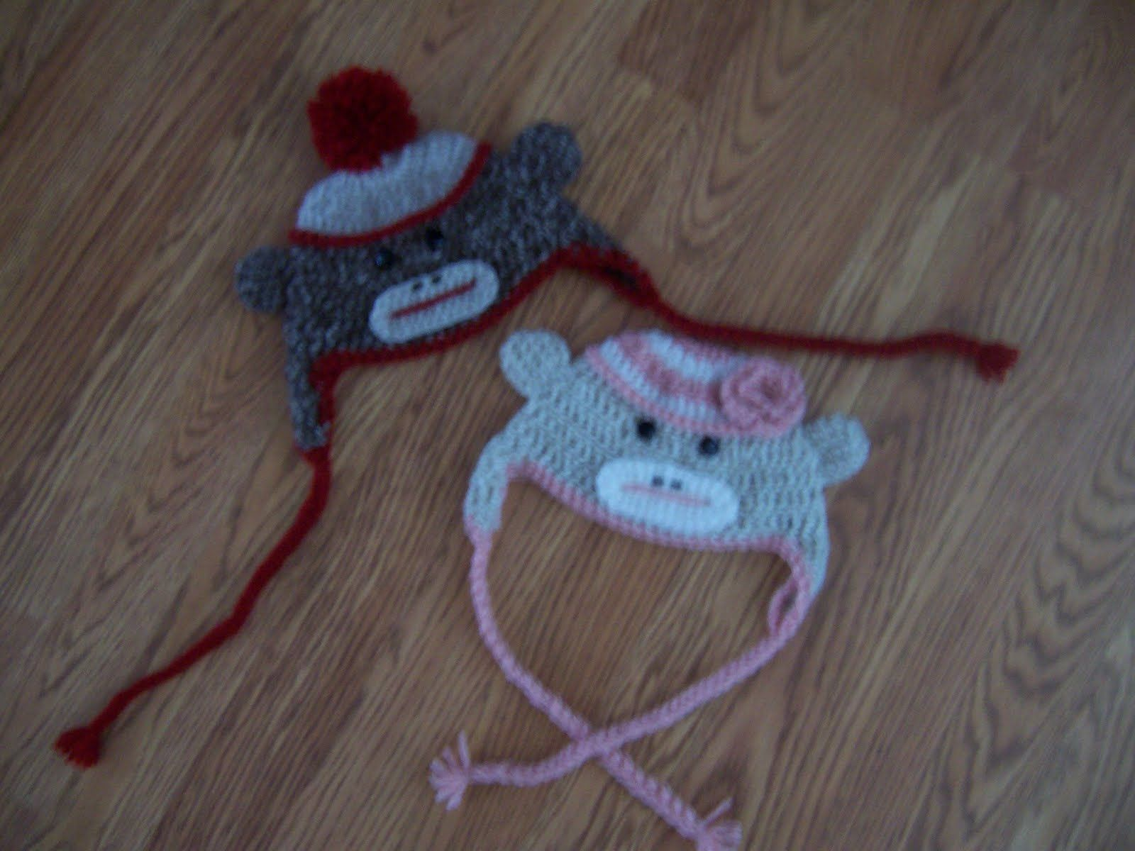 Lisa\'s Food & Crafts!: Crochet Sock Monkey Hats | Captured by the ...