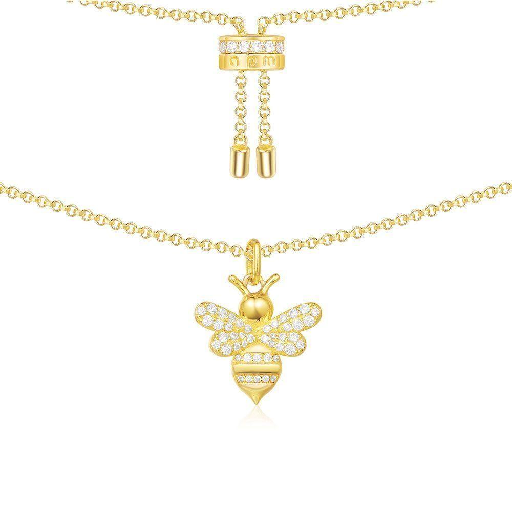 Bumble Bee Pendant Necklace  Choker Adjustable