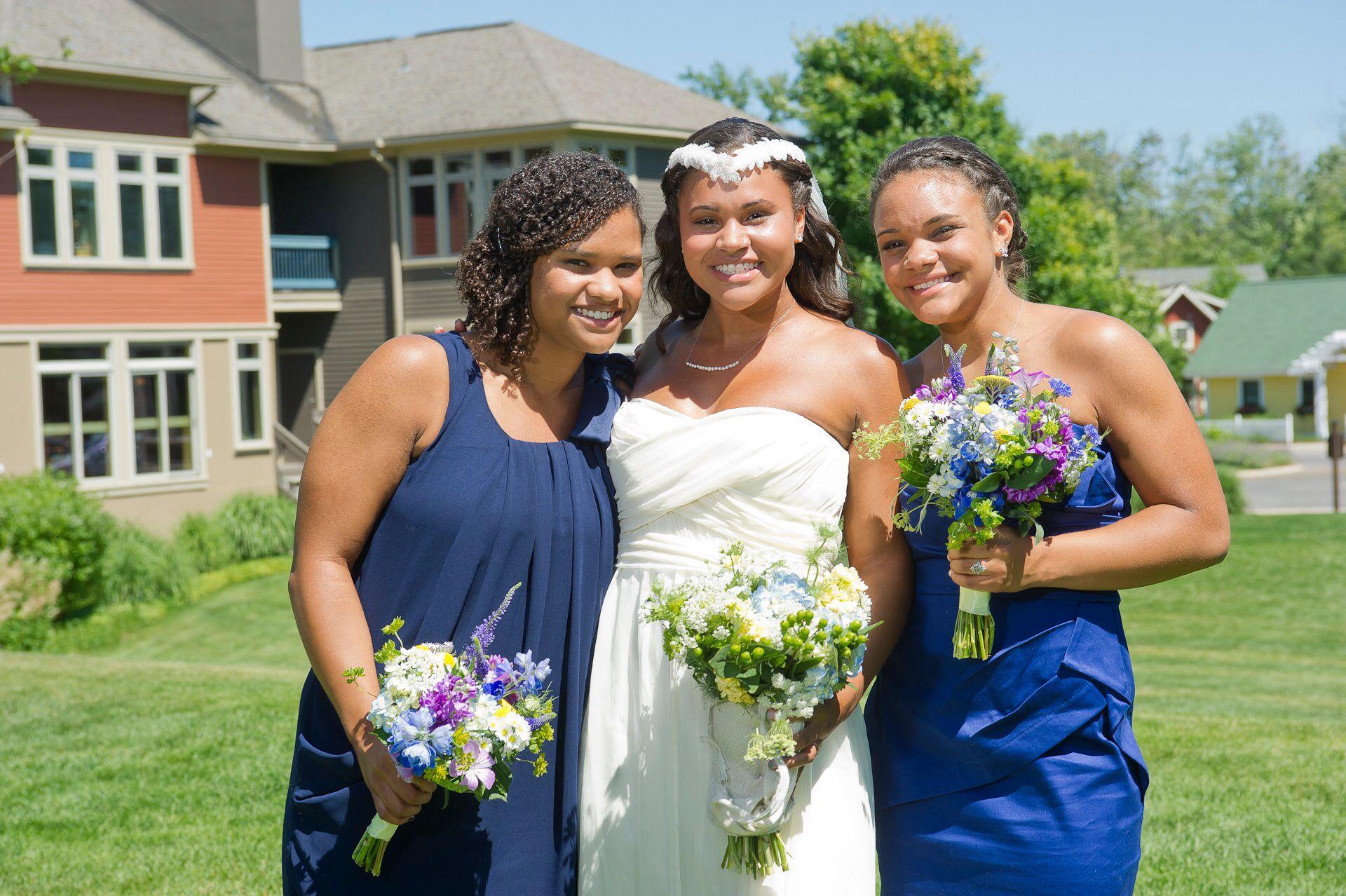 Purple blue u green wildflowers v bridal party pinterest