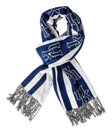 Take a look at this Kentucky Wildcats Fringe Scarf by Sportin' Styles on #zulily today!