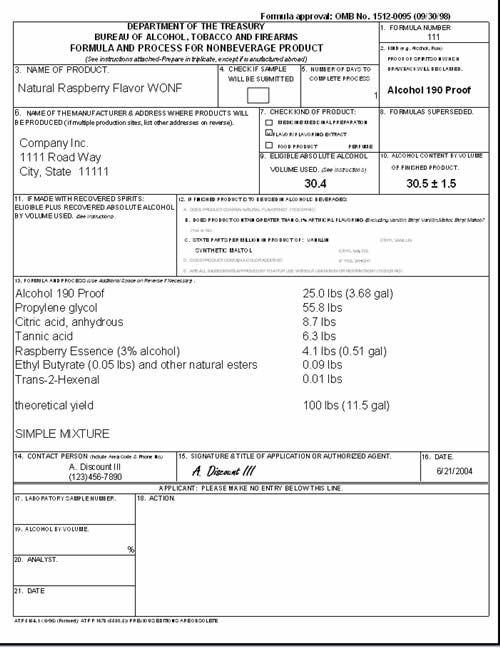 bill of entry form