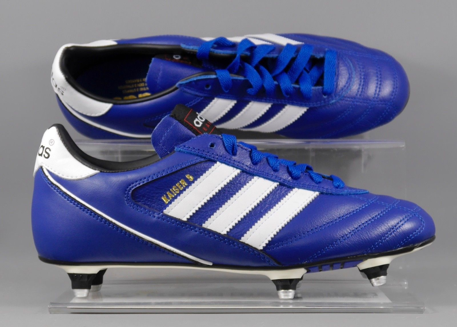 offer discounts new arrival discount shop B34259 Adidas Kaiser 5 soft ground metal studs in Blue. | Soccer ...