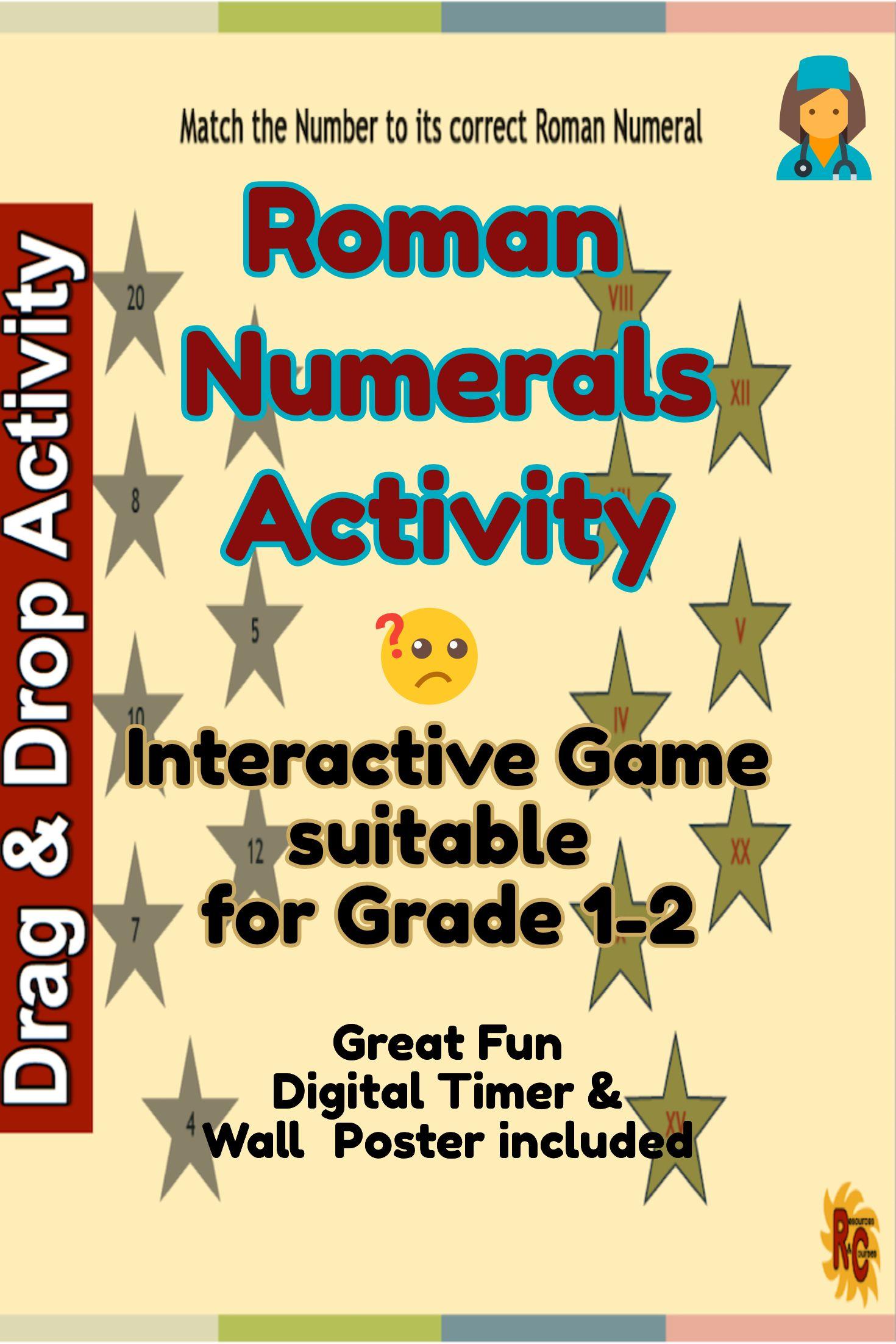 Kids Will Love This Roman Numerals Fun Activities Set