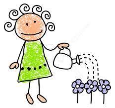 Resultado De Imagen Para Regar Plantas Dibujo Stick Figures Easy Drawings For Kids Doodle Lettering