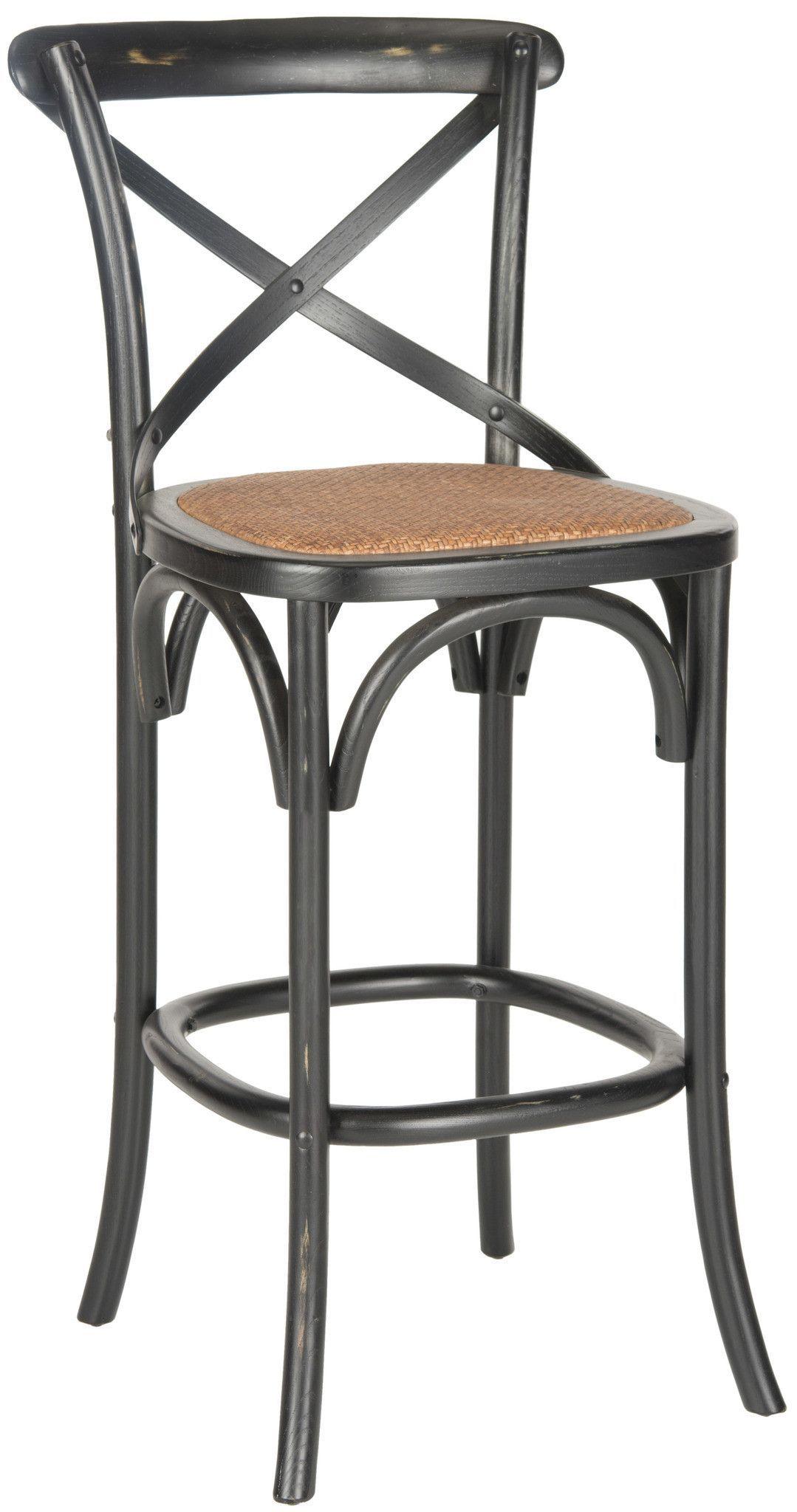 Phenomenal Safavieh Franklin X Back Barstool Decorate Oak Bar Lamtechconsult Wood Chair Design Ideas Lamtechconsultcom