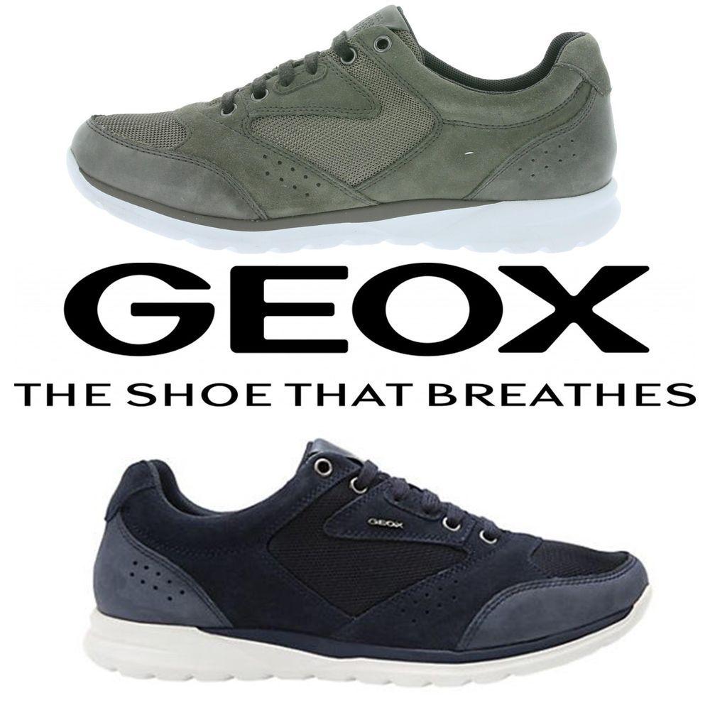 Details about Geox Damian U620HA01422 Navy Grey Comfortable
