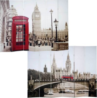 heute-wohnen Foto-Paravent Vintage, Paravent Raumteiler Trennwand