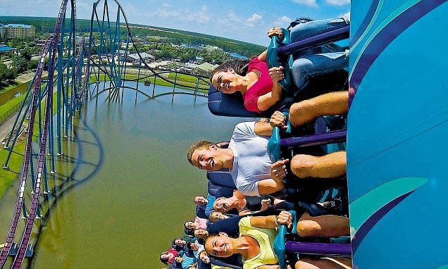 Orlando welcomes two new rides - a shark coaster and spinning cobra #DailyMail