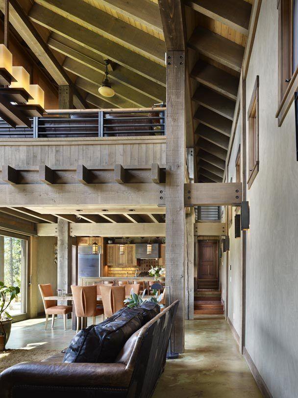 interior from black dog lodge by erich remash architect arch rh pinterest com