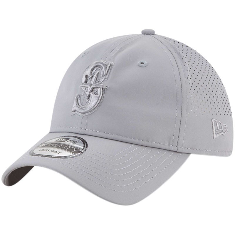 sneakers for cheap 7e2ff a9f70 Seattle Mariners New Era Perforated Tone 9TWENTY Adjustable Hat - Gray
