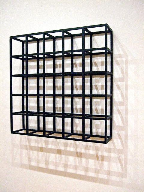 Sol Lewitt S Cubic Modular Wall Structure Moma Sol Lewitt Conceptual Art Abstract Geometric Art