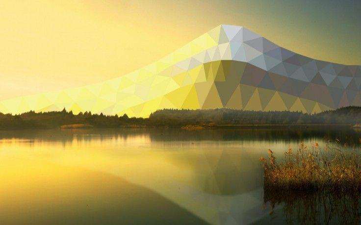 Landscape Lake Sunlight Low Poly Mountain Hd Wallpaper Desktop Background Landscape Wallpaper Landscape Landscape Design Diy