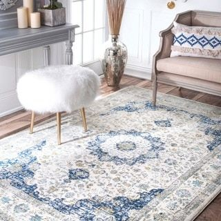 NuLOOM Traditional Persian Fancy Rug 9 X 12 Blue Size Polypropylene Abstract