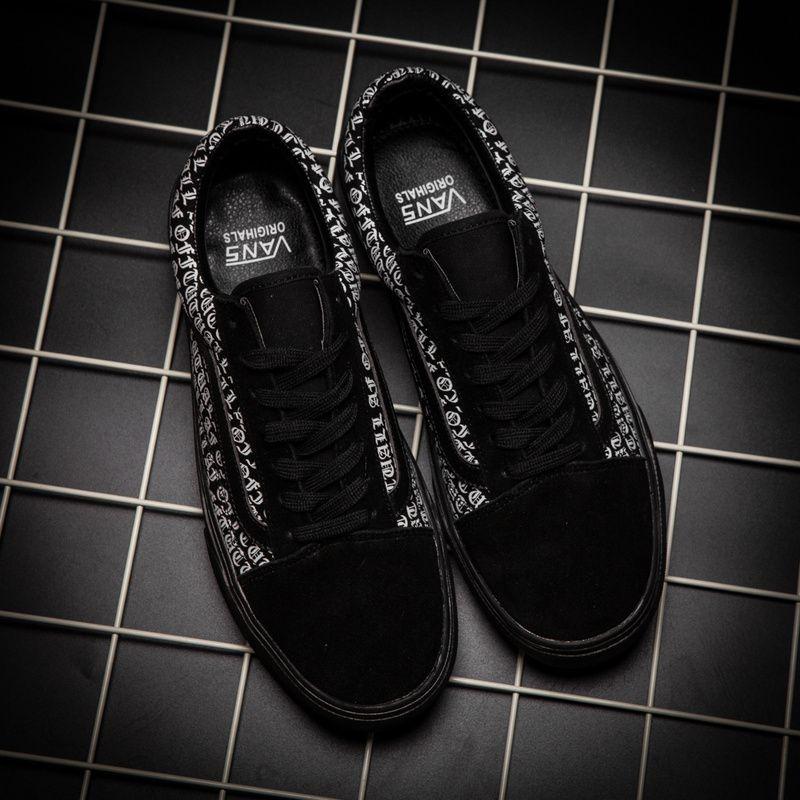 adffecb1ff Genuine VANS low to help black retro men's shoes OTW-AF OLD SKOOL ...