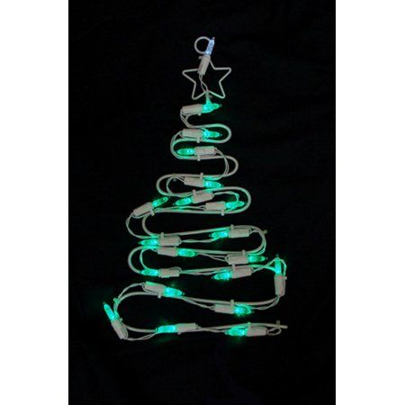12 inch Battery Operated LED Lighted Christmas Tree Window