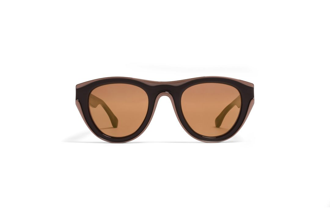MYKITA - MAISON MARTIN MARGIELA / MMDUAL004 / D4 - Brown/Copper Lens: Burgundy Chrome