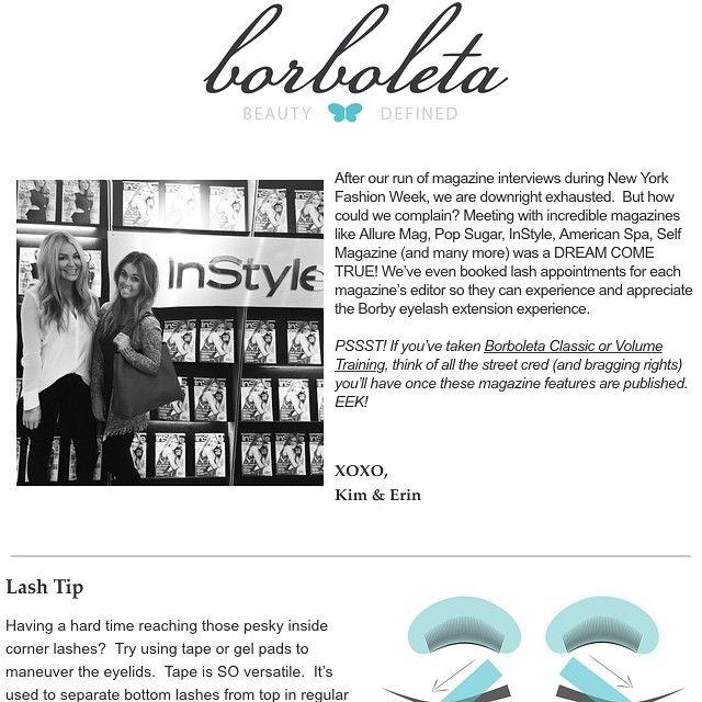 Eyelash extension Borboleta Beauty monthly news letter