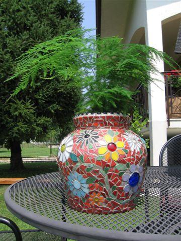 Planter Mosaic | Mosaics, Planters and Mosaic planters