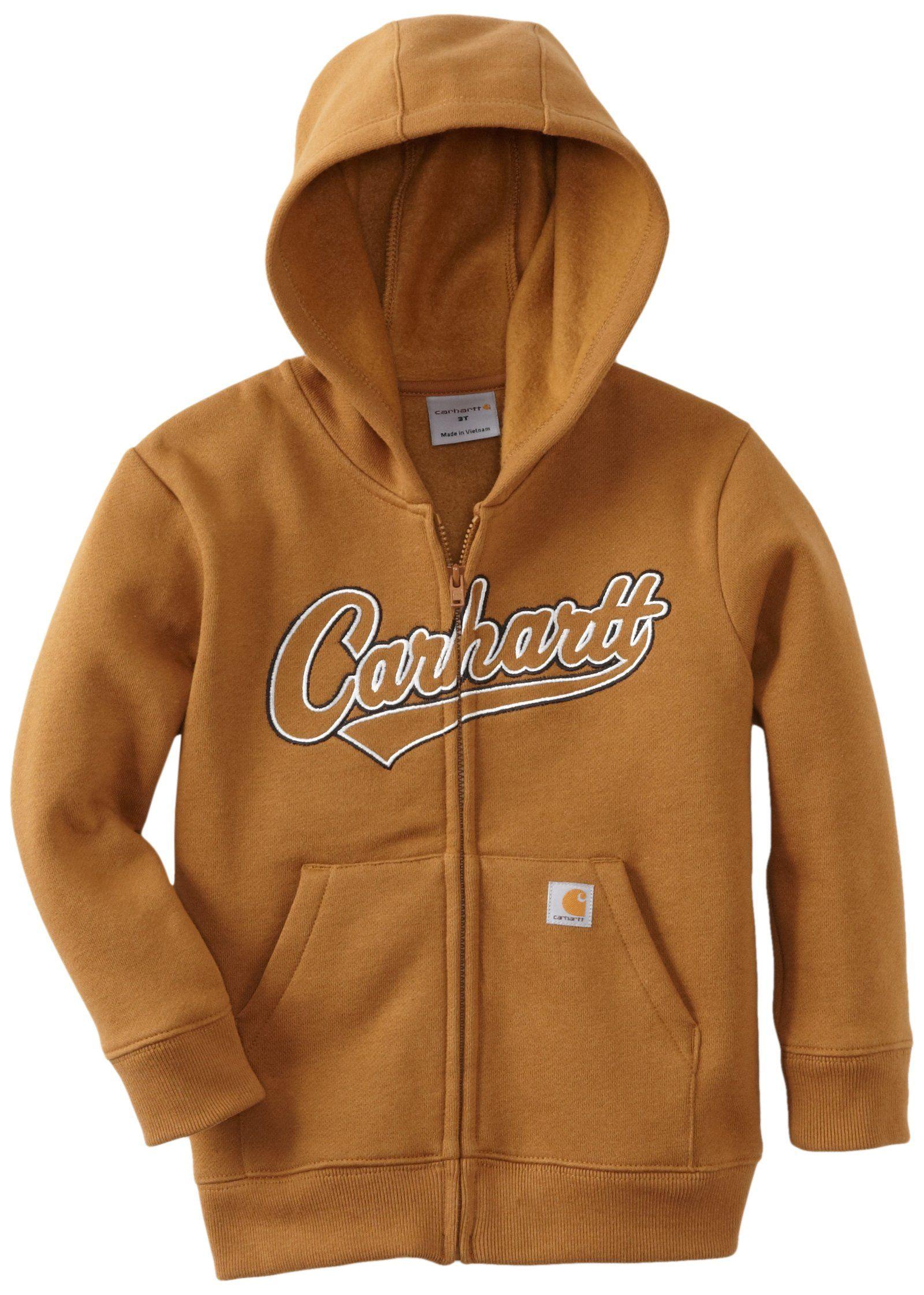 Carhartt Baby Boys Infant Logo Fleece Zip Front Sweatshirt Carhartt Brown 6 Months Carhartt Jacket Hoodie Logo Carhartt Baby [ 2242 x 1600 Pixel ]