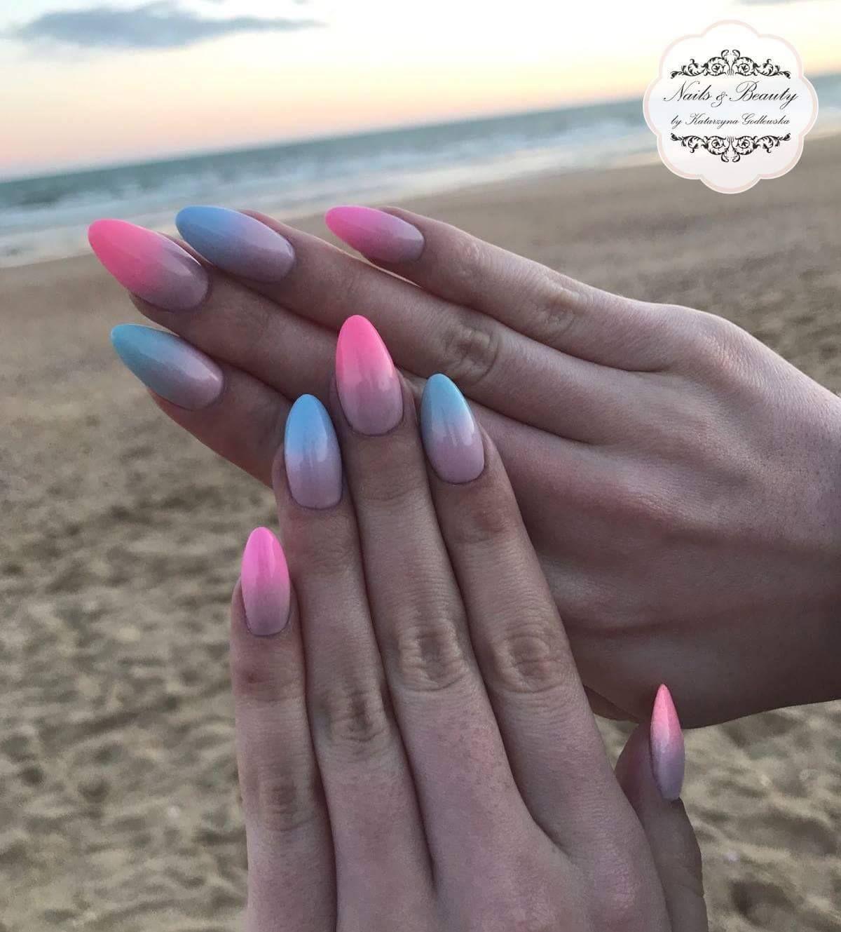 Ombre Miami By Katarzyna Godlewska Indigo Young Team Nails