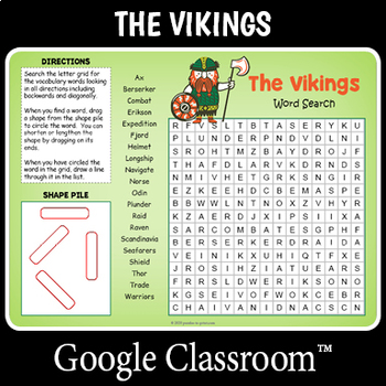 Distance Learning Vikings Word Search By Puzzles To Print Tpt In 2020 Distance Learning Vocabulary Words Google Classroom Resources