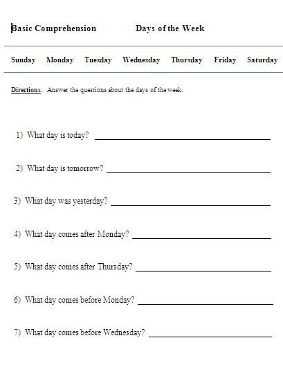 days of the week activities kiddo shelter kids worksheets printable pinterest spanish. Black Bedroom Furniture Sets. Home Design Ideas