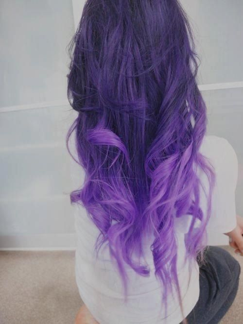 Purple Dye Dip Hair Pictures, Photos, and Images for ... Light To Dark Dip Dye